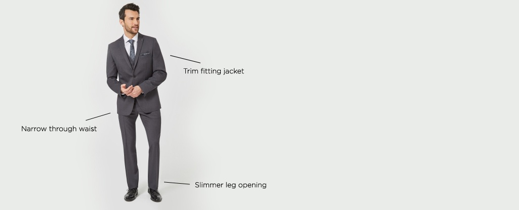 The Slim Fit. Designed with a trim fit for a sleek & modern look.