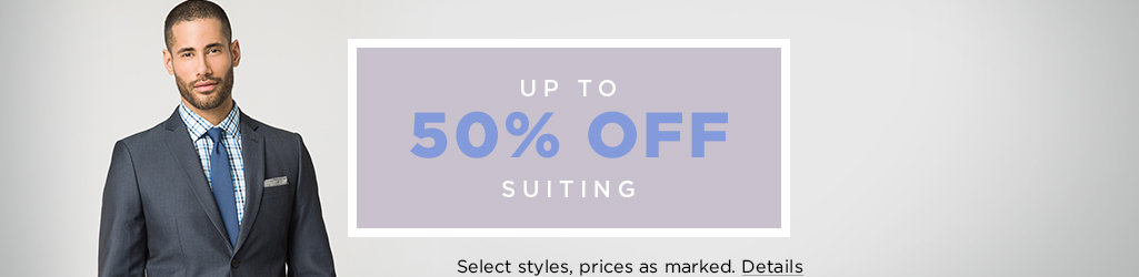 Shop Men's Suiting on Sale