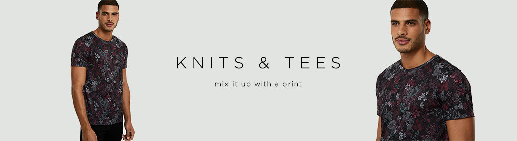 KNITS & TEES - Mix it up with a print