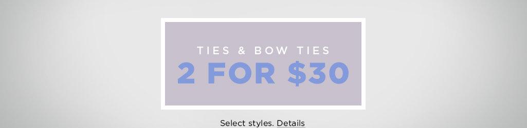 Shop Ties and Bow Ties on Salee