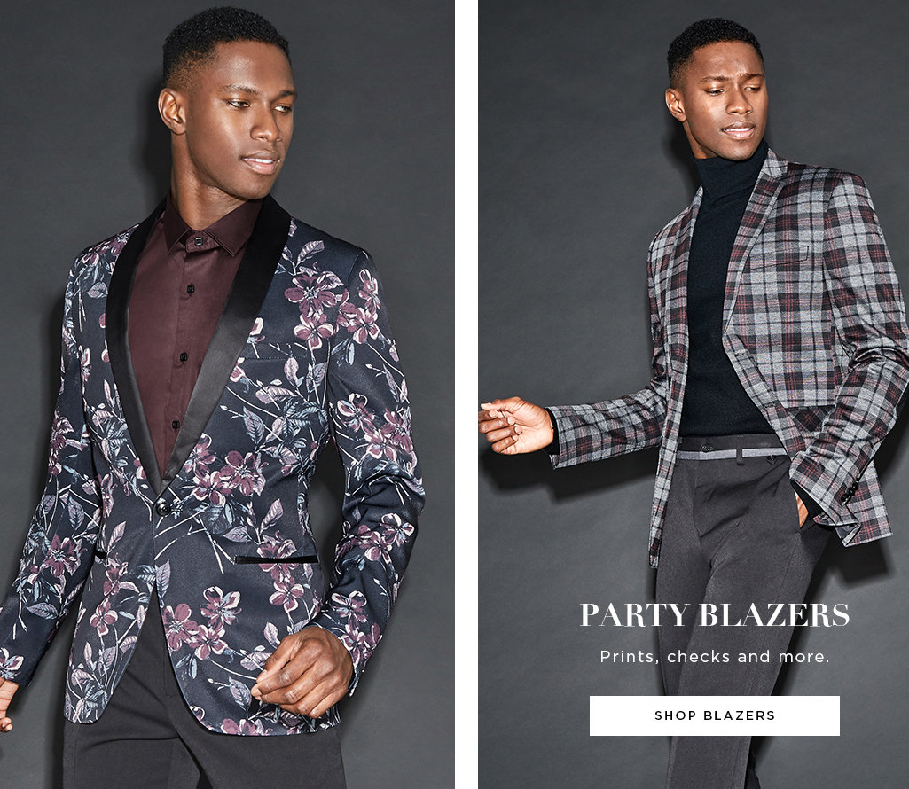 Party Blazers. Prints, checks and more, Shop Blazers >