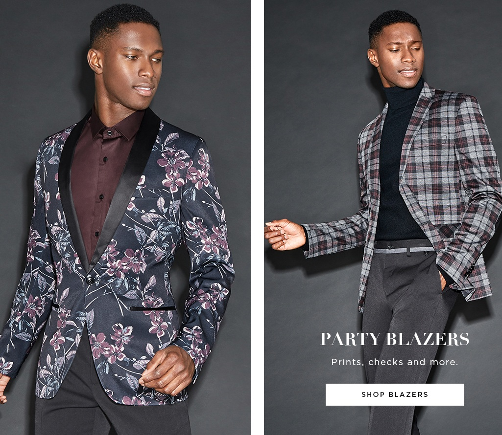 Party Blazers. Prints, checks and more, Shop Blazers >