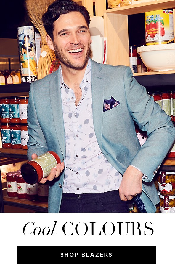 From raspberry to seafoam to indigo, these colours  will make your blazer pop. Shop Men's Blazers