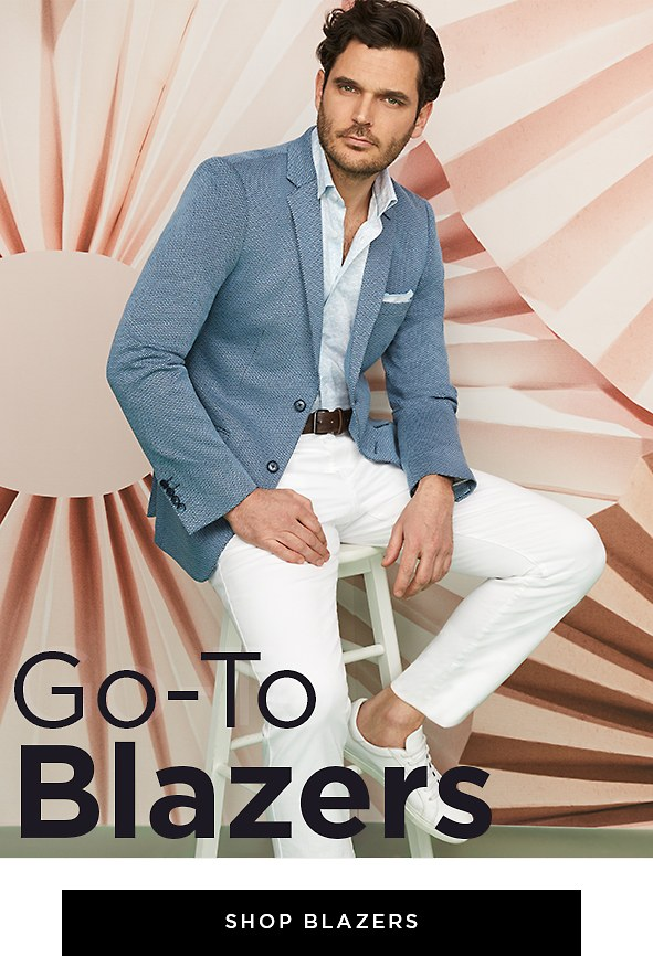 Go-To Blazers. We miss dressing up as much as you do, and these blazers are not only stylish, but comfortable at the same time. Shop Men's Blazers