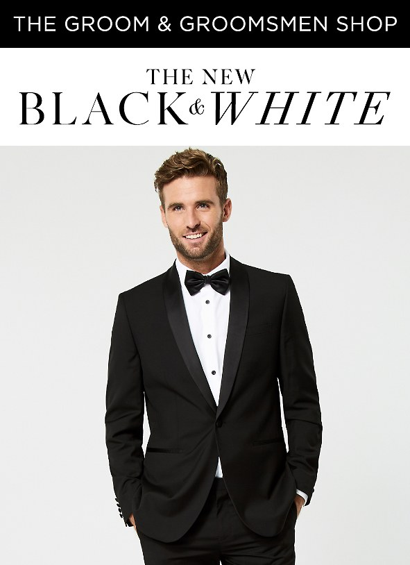 The New Black & White. Shop suits >