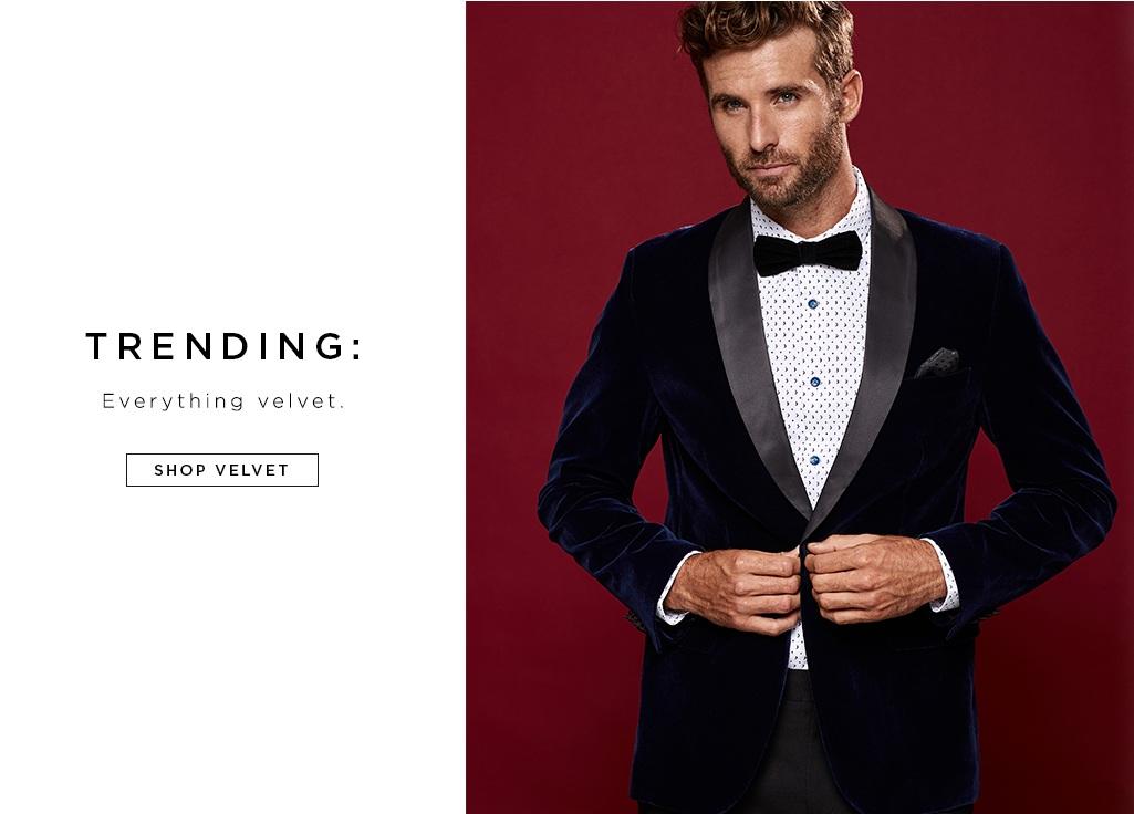 TRENDING: Everything velvet.