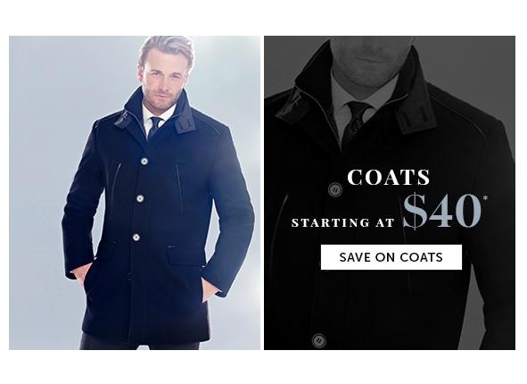Save on Outlet Coats for Men