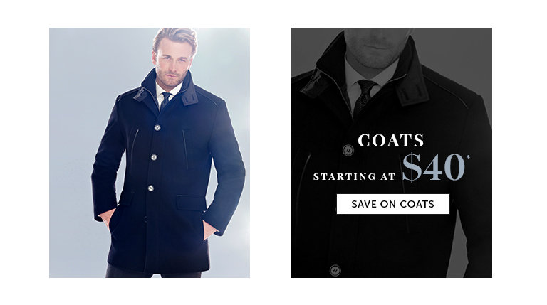 Save on Outlet Coats for Men