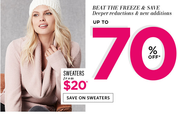 Save on Outlet Sweaters for Women