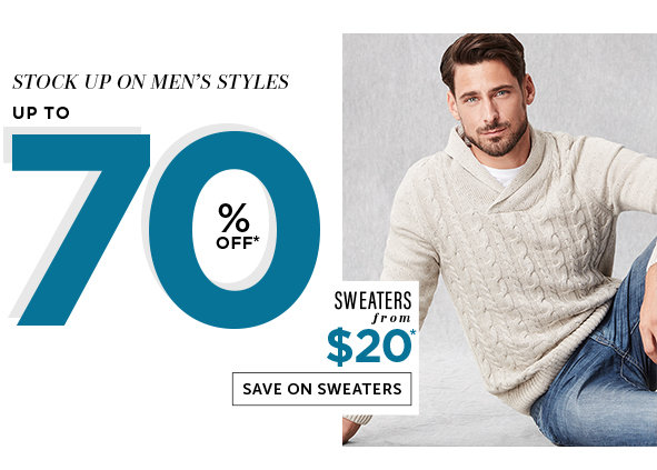 Save on Outlet Sweaters for Men