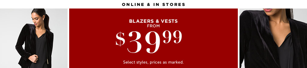 Outlet Blazers and Vests