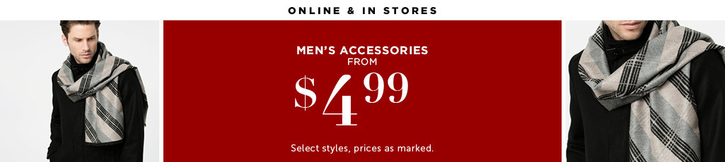 Outlet Men's Accessories