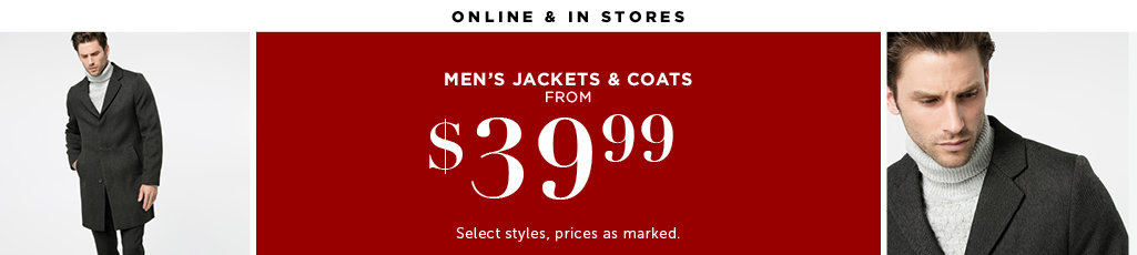 Outlet Men's Jackets and Coats