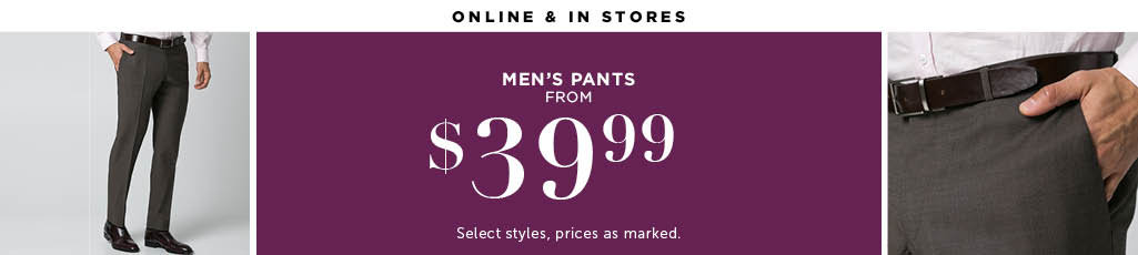 Outlet Men's Pants
