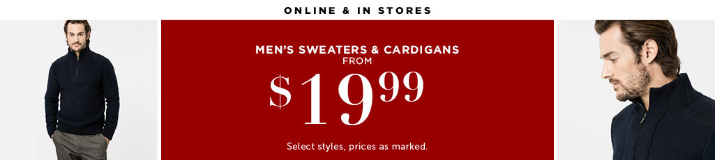 Outlet Men's Sweaters and Cardigans