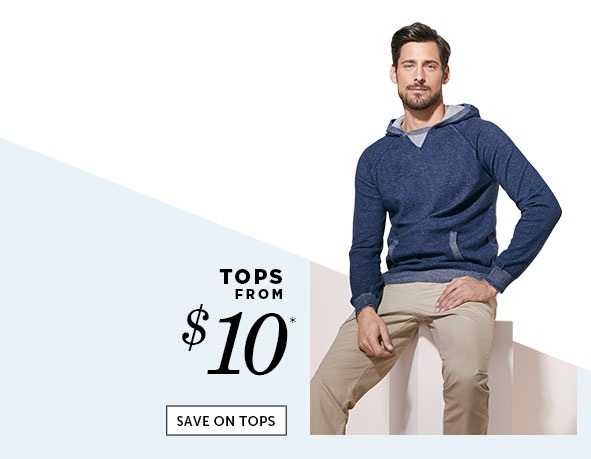 Save on Outlet Tops for Men
