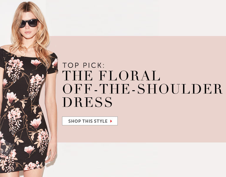 The Floral Off-the-Shoulder Dress