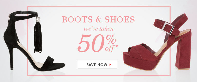 Shop Shoes and Boots on Sale