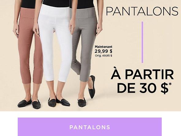 Magasinez les Pantalons pour femmes en solde