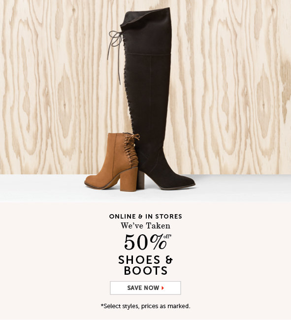 Shop Boots and Shoes on Sale