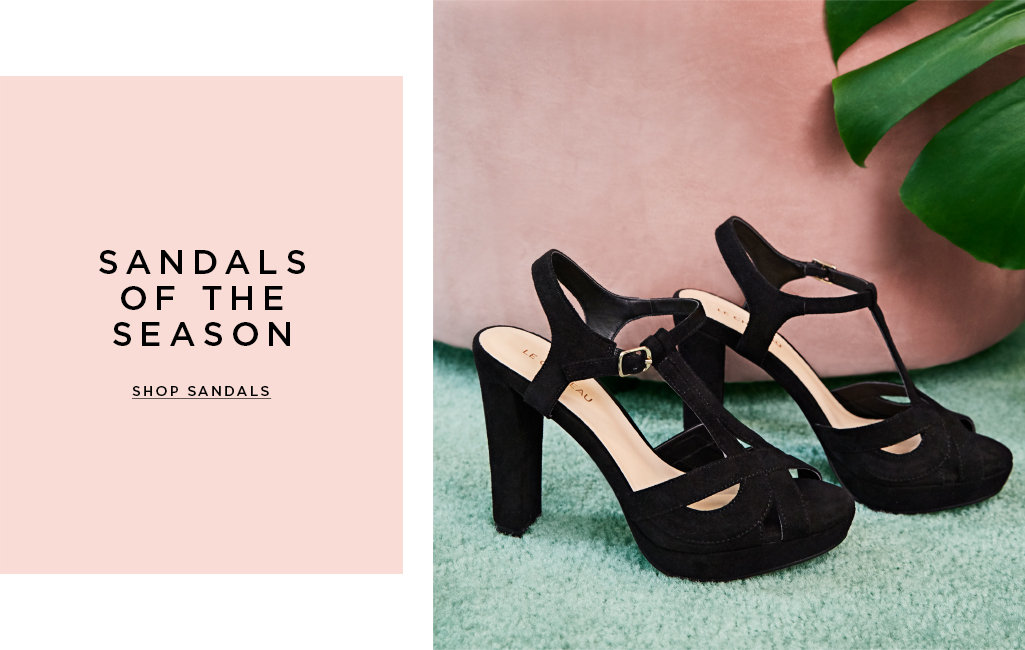 Sandals of the season. Shop them all