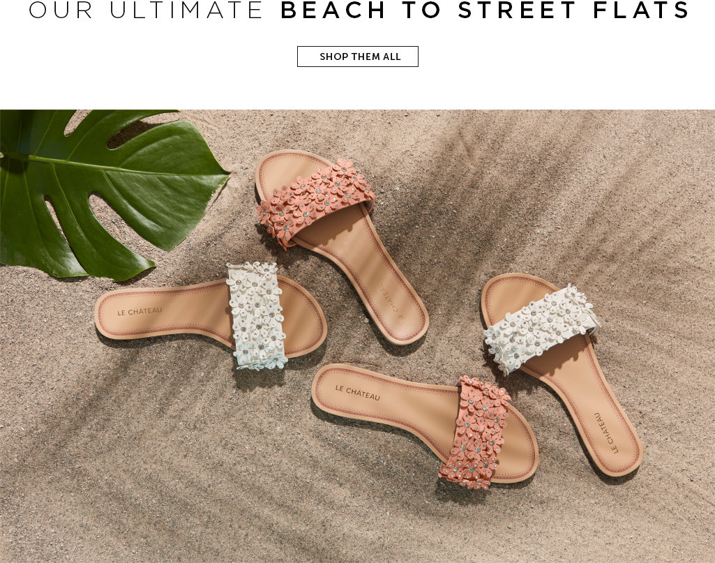 Beach to street flats. Shop them all