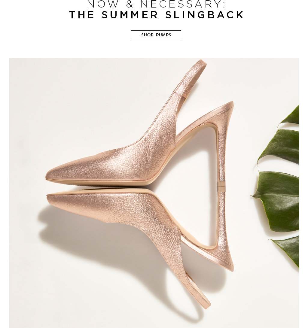 Now & Necessary: The summer slingback. Shop pumps