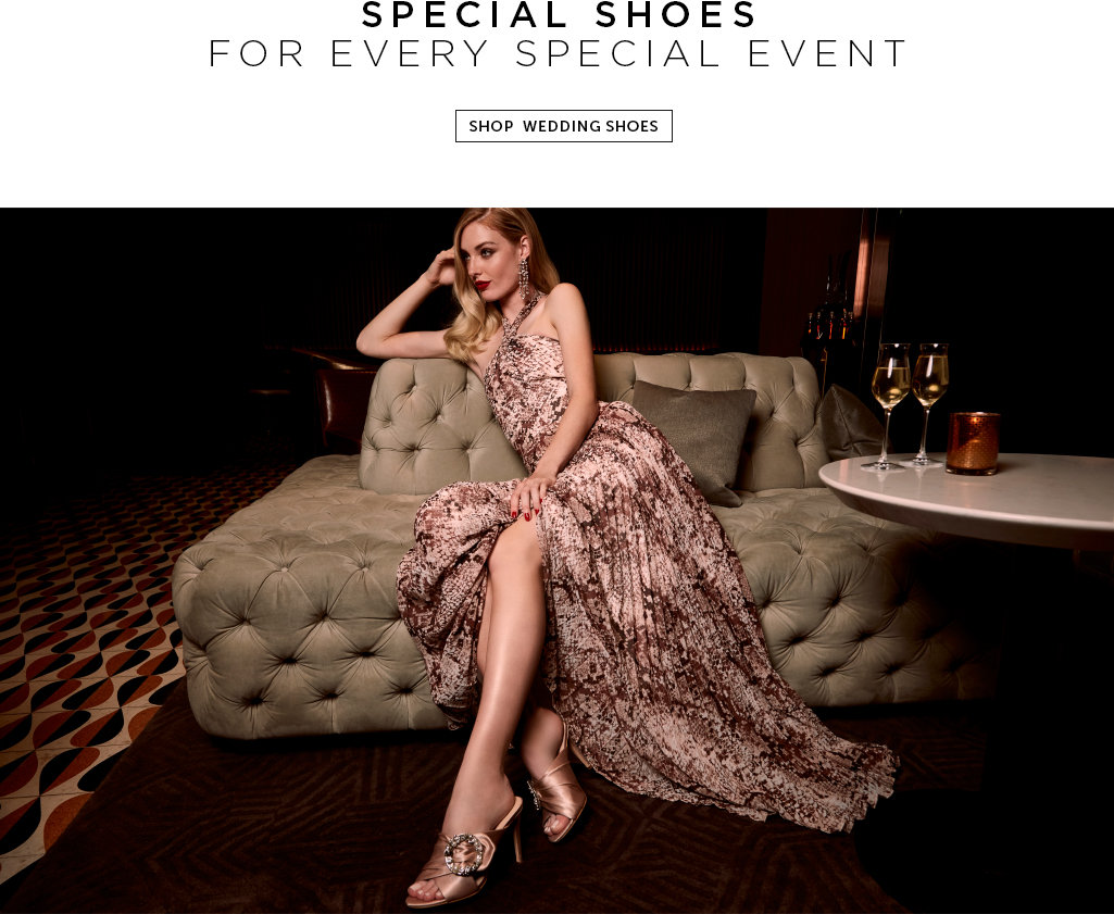 Special shoes for every special event. Shop wedding shoes
