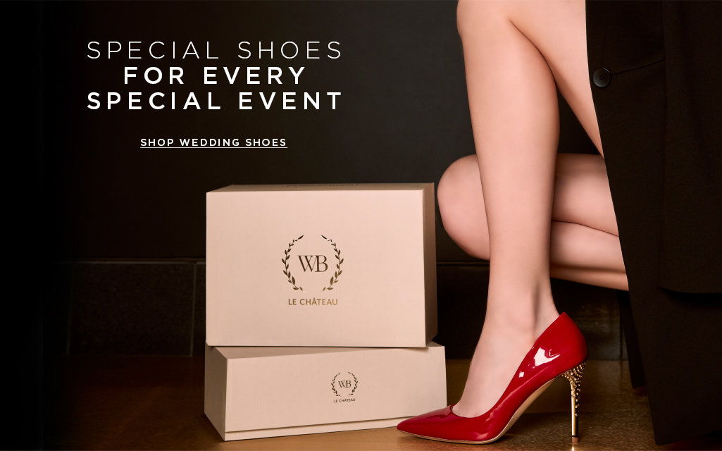 SPECIAL SHOES FOR EVERY SPECIAL EVENT. Shop wedding shoes>