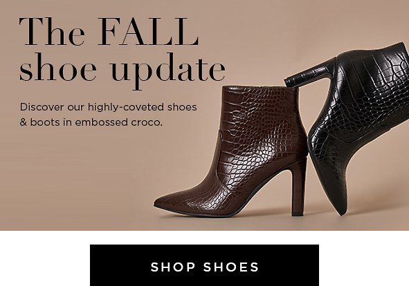 The fall shoe upadate. Discover our highly-coveted shoes & boots in embossed croco.
