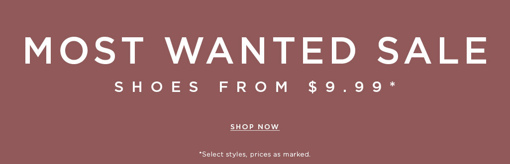 End of summer sale. Shoes from $9.99*. Shop now