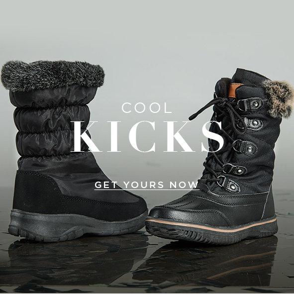Cool Kicks. Fresh  lace-up flats with soles to face the cold. Get Yours Now >