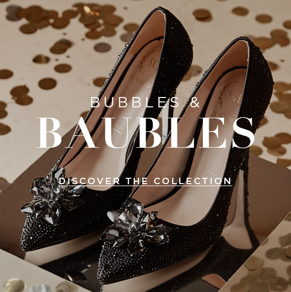 Baubles & Bubbles. Embellished and impactful heels for your special events this season. Discover the Collection>