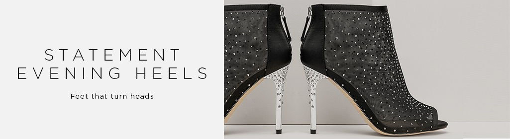 EVENING HEELS. LIVE THE GLAMOUR