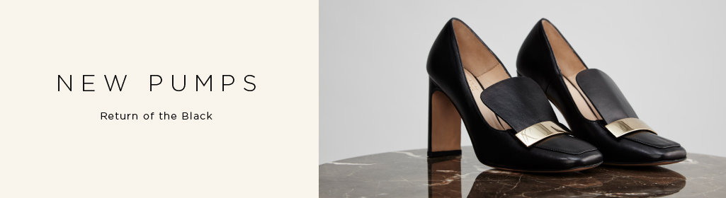NEW PUMPS. Return of the Black. Shop Women's Pumps