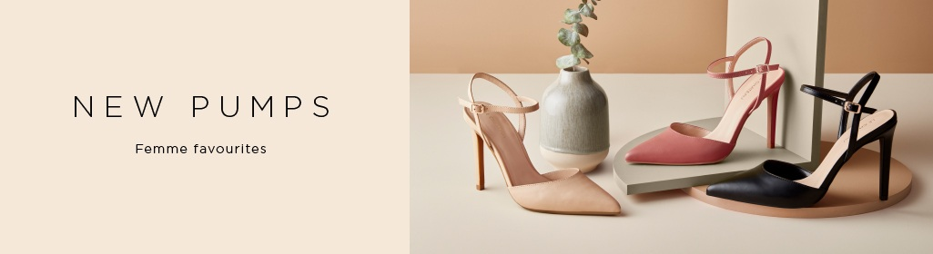 NEW PUMPS. Femme favourites. Shop Women's Pumps