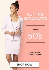 Suiting seperates 50% off