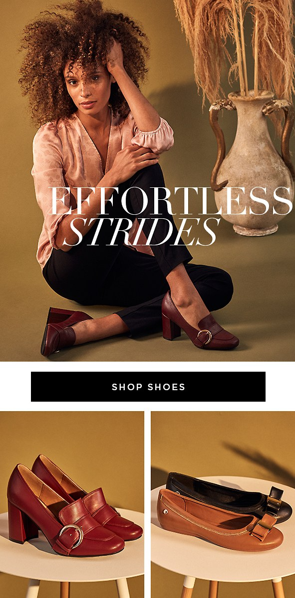 Slip into the comfortable & timeless shoes you'll want to wear all day, every day.