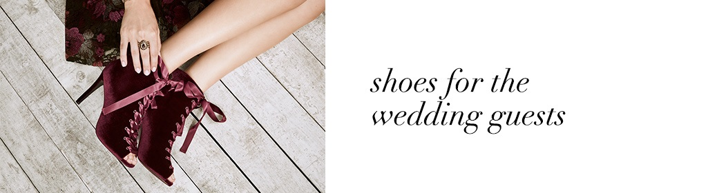 Shoes for the wedding guests