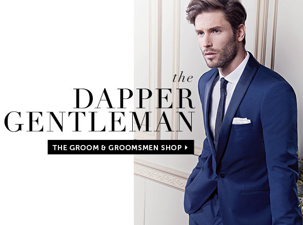 Shop Suits for the Groom and Groomsmen