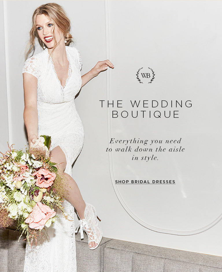 The wedding boutique- Everything you need to walk down the aisle in style.