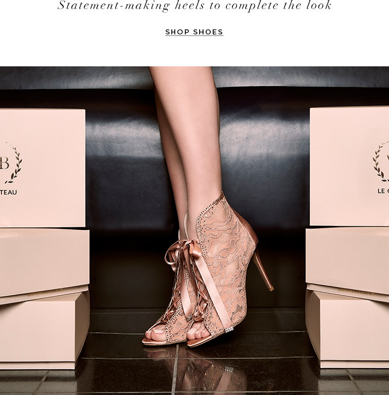 Statement-making heels to complete the look.