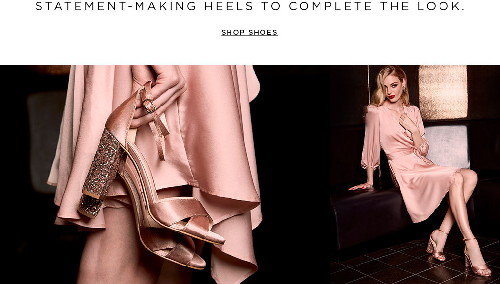Statement-making heels to complete the look. Shop shoes