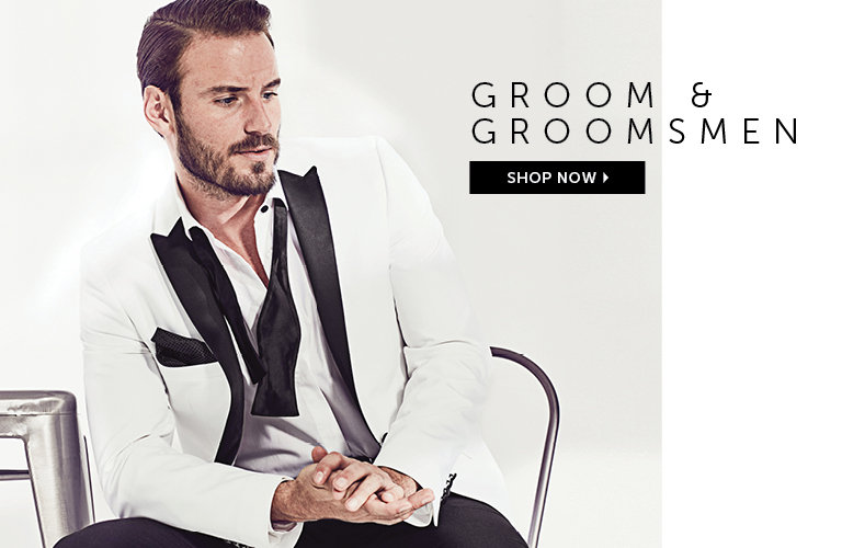 Shop Suits For Grooms and Groomsmen