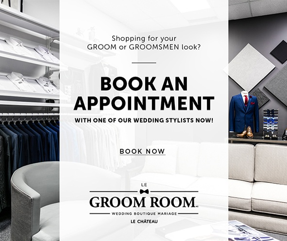 Shopping for your groom or groomsmen look?- Book an appointment with one of our wedding stylists now. Book now