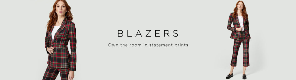 Blazers Own the room in statement prints.