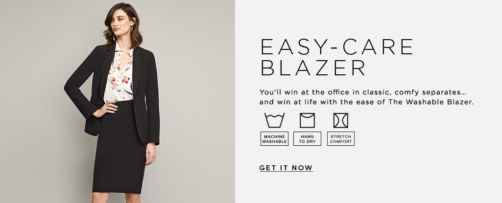 Easy-Care Blazer You'll win at the office in classic, comfy separates…and win at life with the ease of The Washable Blazer. Get it now>