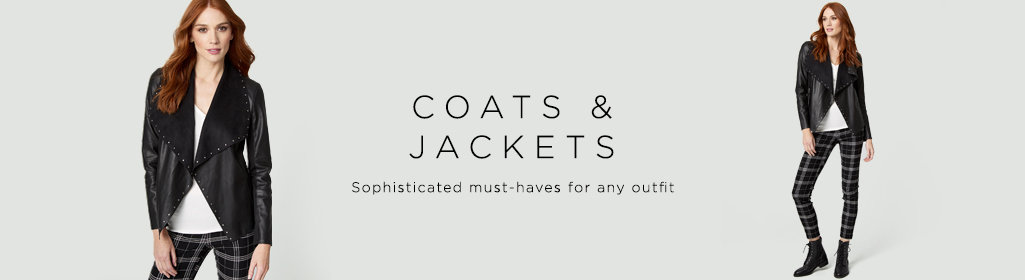 Coats & Jackets Sophisticated must-haves for any outfit.