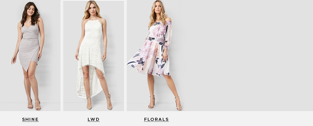 Dress to Impress. A season packed with events calls for a standout dress. Shine > LWD > Florals >
