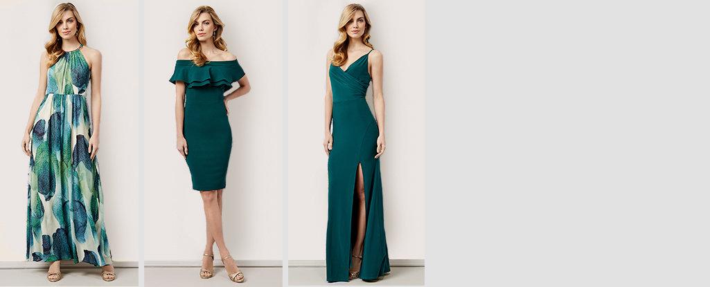 Dress to Impress. Emerald green, the jewel tone of the moment. Shop Emerald Dresses >